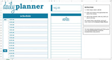 Load image into Gallery viewer, Basic Daily Planner - Excel Template