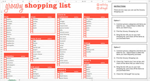 Grocery Shopping List - Excel Template