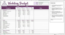 Load image into Gallery viewer, Easy Wedding Budget - Excel Template
