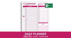 Dynamic Daily Planner - Excel Template