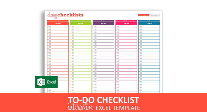Cheery Checklists - Excel Template