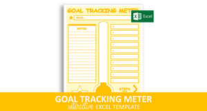 Goal Tracking Meter - Excel Template