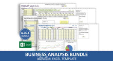 Load image into Gallery viewer, Business Analysis Bundle - Excel Templates