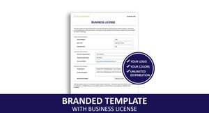 Branded Template with Business License