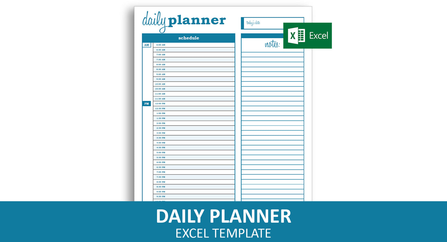 Basic Daily Planner - Excel Template