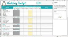 Load image into Gallery viewer, Savvy Wedding Budget - Excel Template