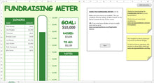 Load image into Gallery viewer, Fundraising Meter - Excel Template