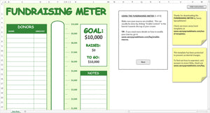 Fundraising Meter - Excel Template