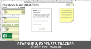 Revenue and Expenses Tracker - Excel Template