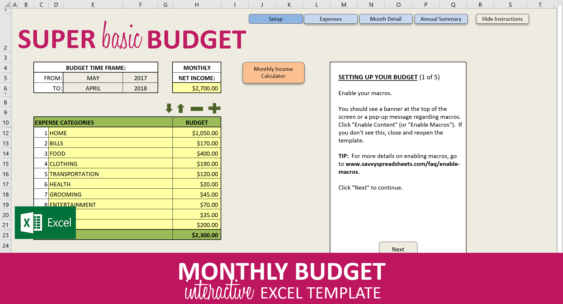 Basic Budget Excel Template from cdn.shopify.com