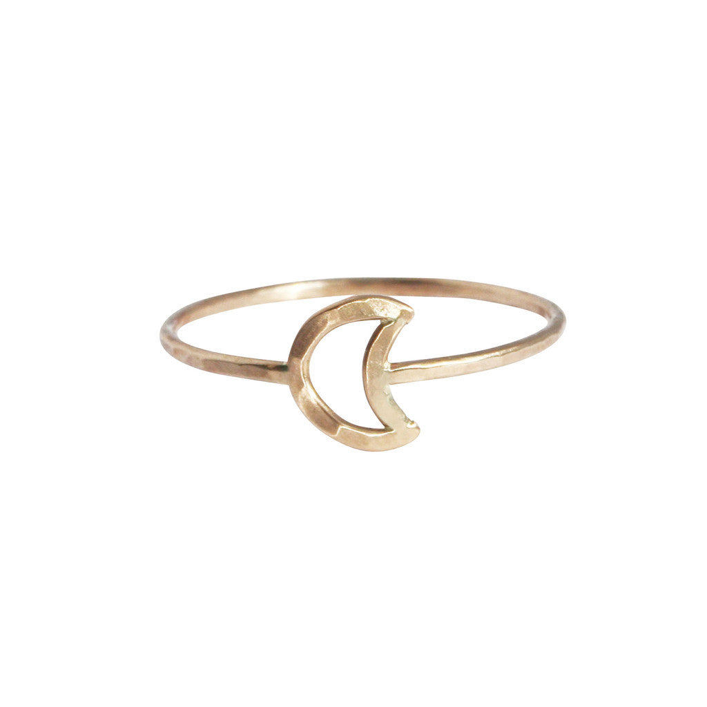 Stefanie Sheehan Gold Fill Moon ring NYC