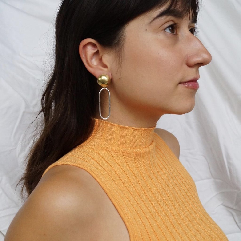 Sunday Feel Dome Drop Earrings