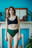 Minnow Bathers Toronto SS19 Collection Poetry of Forms Concrete Top in Black Made in Toronto Sustainable Swimwear Made in Canada Victoire Boutique