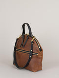 Eleven Thirty Anni Large Shoulder Bag (Bronze with Front Zipper) made in Toronto Victoire Boutique