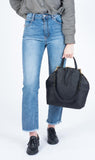 Eleven Thirty Shop Leather Bags Anni Bag Large Croc Embossed Black leather made in Toronto Victoire Boutique