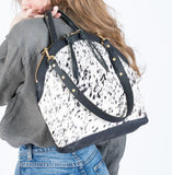 Eleven Thirty Shop Anni Large Bag Salt & Pepper Cowhide Made in Toronto Everyday Purse Crossbody Canadian Leather Goods Made in Canada Leather Purse Victoire Boutique Capsule Wardrobe