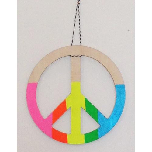 Great Lakes Goods Peace Sign Wall Charm Victoire Boutique
