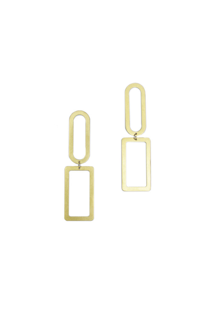 Natalie Joy Elongated Shape Earrings