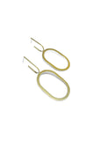 Natalie Joy Jewelry Portland Composition Collection Oval Unhoops Minimalist Hoop Earrings Ships from Canada Victoire Boutique