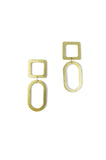 Natalie Joy Jewelry Portland Composition Collection Square Oval Earrings Small Ships from Canada Victoire Boutique