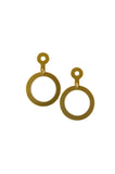 Natalie Joy Empty Circle Earrings made in portland brass hoops minimalist bold simple