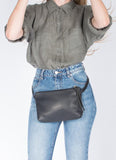 Eleven Thirty Shop Handbags Toronto bags Amada Fanny Pack Black Leather Made in Toronto Victoire Boutique