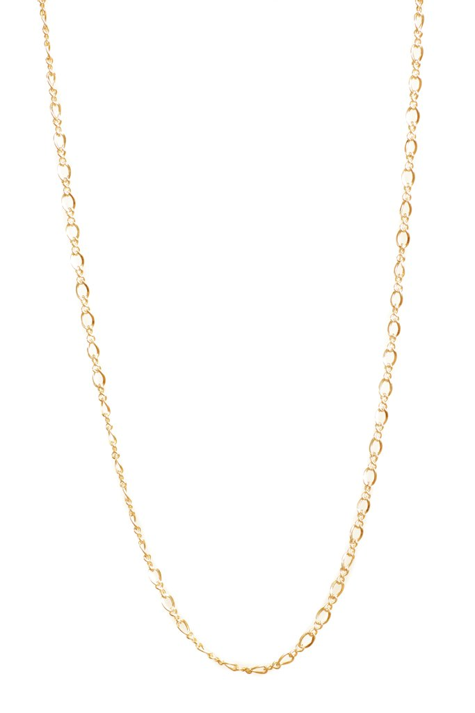 Lisbeth Daisy Necklace figure 8 gold chain layering made in Toronto Victoire Boutique