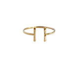 Stefanie Sheehan Gold Fill Open Ring NYC
