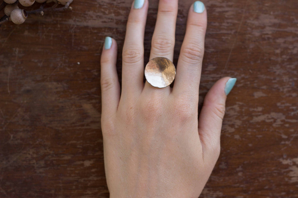Ilsa Loves Rick Full Moon Ring Gold Filled Victoire Boutique