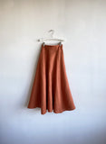 Eliza Faulkner Clothing Montreal Quebec SS2021 Berkley Skirt Linen High Waisted Long Midi Skirt Dramatic Oversized Whimsical Feminine Clothing. Slow Ethical Small Batch Sustainable Local Eco-Friendly Fashion. Canadian Design Independent Designer Woman Owned Business. Made in Montreal Quebec Canada. Victoire Boutique Ottawa.