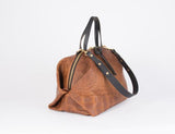 Eleven Thirty Shop Toronto Leather Bags Canadian Leather Bags Katie XL Bronze Croc Embossed Made in Toronto Victoire Boutique