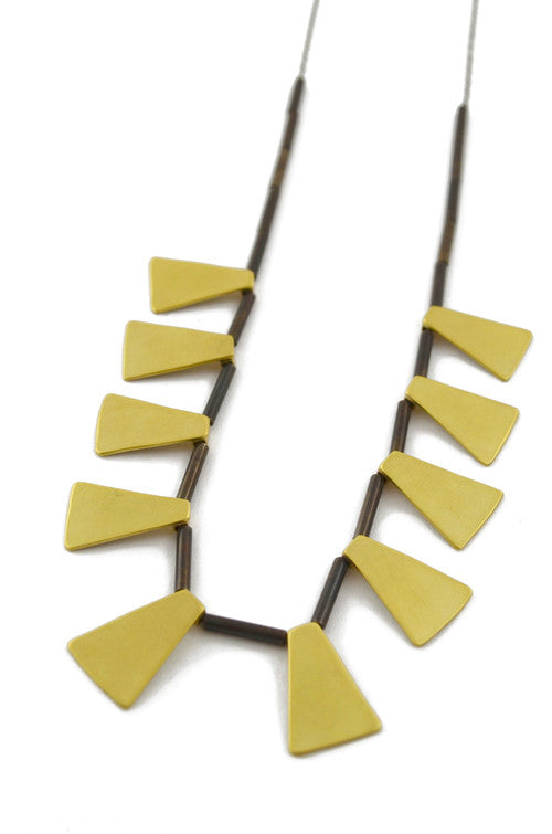 Natalie Joy Jewelry Ancient Keys Collection Picus Necklace minimalist geometric ships from canada made in Portland, Oregon