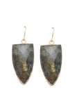 Sarah Mulder Guarded Earrings Labradorite Gold Or Silver Handmade