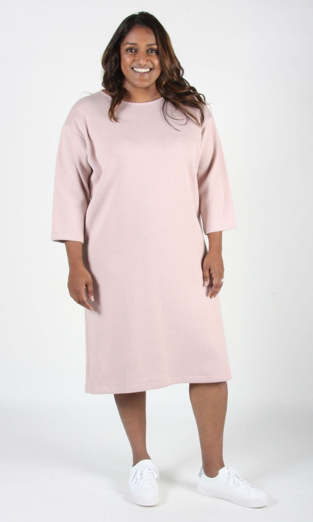 Birds of North America Clothing Toronto Canada Synallaxe Dress Pink. Long Sleeve Scoop Neck Drop Shoulder Heavy Knit Sweater Tunic Dress.