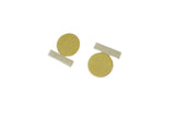 Natalie Joy Jewelry Upside Downside Studs Brass and Sterling Silver Absence and Form Collection Ships from Canada Made in Portland Oregon Victoire Boutique