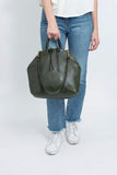 Eleven Thirty Shop Toronto Leather Bags Canadian Leather Bags Anni Large Bag Olive Leather Carry All Purse Made in Toronto Canadian Fashion Victoire Boutique