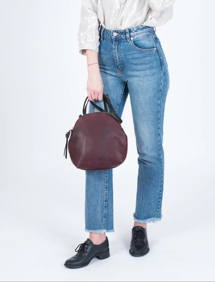 Eleven thirty shop Anni mini bordeaux leather burgundy leather everyday purse made in toronto canadian leather purse ethically made zero waste victoire boutique
