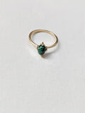 Little Gold Jewelry British Columbia Ava Ring Malachite with Gold Vermeil.