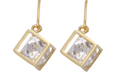 Sarah Mulder Bling cube earrings gold