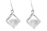 Sarah Mulder Bling cube earrings silver