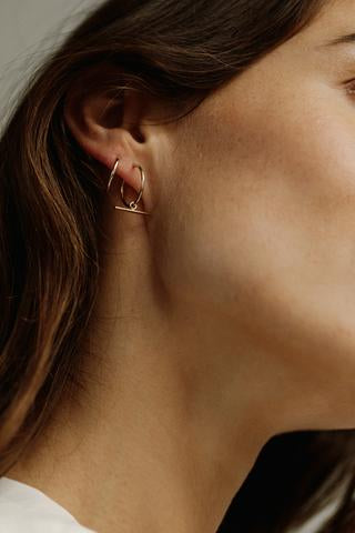 Lisbeth Leika Earrings modern minimalist gold made in Toronto Victoire Boutique