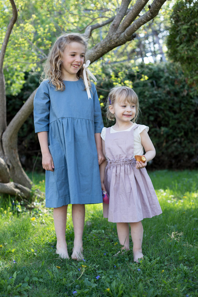 June Isle Clothier British Columbia Pinafore Skirt Purple Blue Sustainable Children's Clothing