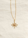 Hawkly Jewelry Estrella Necklace Bronze Made in Toronto Victoire Boutique Canadian Made Jewelry Ethereal Jewelry Everyday Luxury Jewelry Charm Necklace Gold