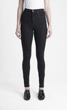 Iris Denim Spellbound black high-waisted jeans made in Toronto
