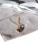 FAIR Jewelry Canada British Columbia L'Amour Necklace Silver Tiny Heart Pendant Necklace.