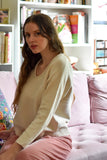 FFORM Clothing Toronto Peru U-Neck Sweater Natural Beige Tan. Long Sleeve U-Neck Peruvian Cotton Sweater.