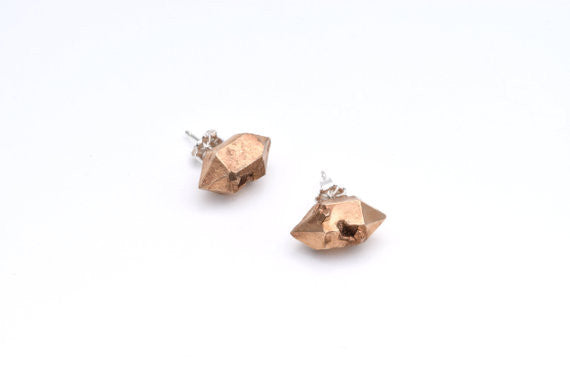 Lumafina Jewelry Herkimer Cast Studs Made in Portland Oregon Ships from Canada Victoire Boutique