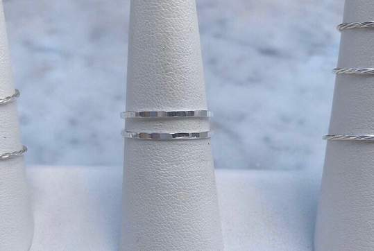Second Aura Sparkle Stacker Ring (Silver)
