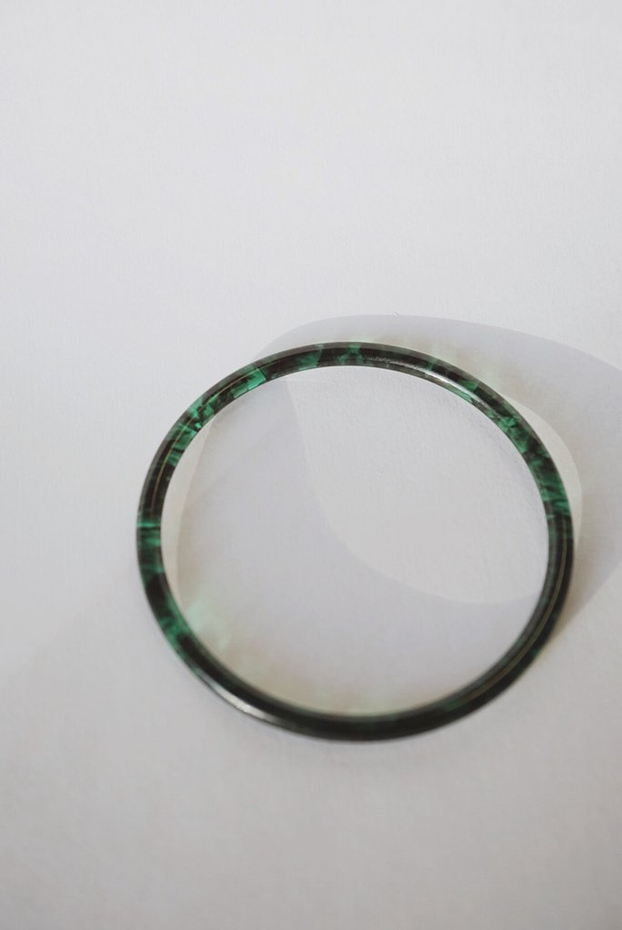 Foe and Dear Jewelry Vancouver British Columbia Leone Bangle Emerald Green Acetate.
