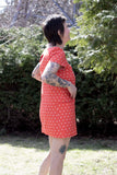 Nokomis Clothing Edmonton Thora Dress in XO Print. Made in Canada Canadian Fashion Victoire Boutique